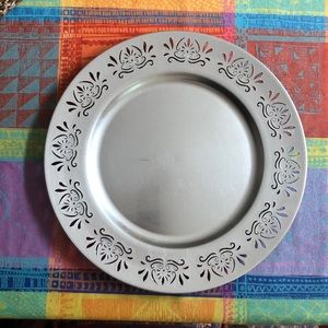 Decorative serving platter